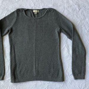 Loft light knit top Sz S Gray